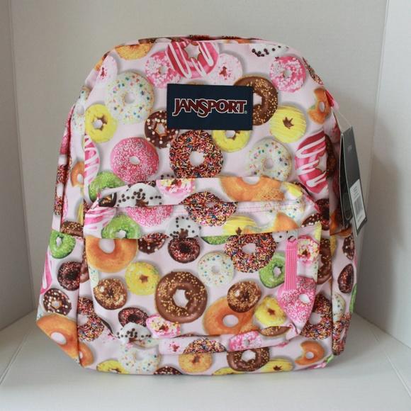 e19e32b9fb4b NWT JanSport Superbreak Backpack - Multi Donuts